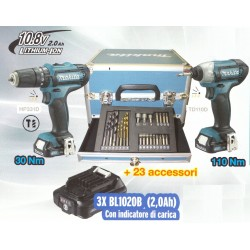 MAKITA KIT AVVITATORI E ACCESSORI